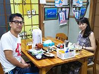 能條様夫妻ありがとうございます。お料理が美味しいと生ビールをお代わりして頂きました。