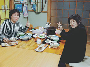 追加料金で宿泊して頂きました。小松崎様です。千葉からお越し頂きました。