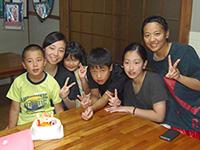 長崎の姪っ子と空手の達人二人、ありがとうございます。